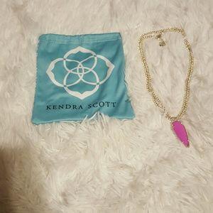 Brand new never worn Kendra Scott hot pink pendant